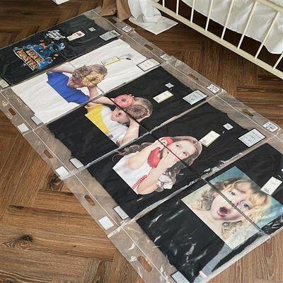 韩国潮牌圆领短袖T恤女学生韩版宽松大码显瘦中长款甜甜圈印花图