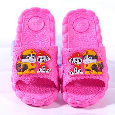 滑可爱家用小孩专用女宝宝凉拖鞋儿童拖鞋男童夏天软底卡通室内防