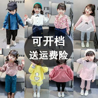 女宝宝春装洋气韩版夏装2020新款小童儿童春秋季一岁女童网红套装