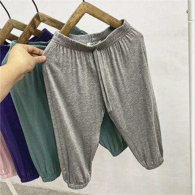 儿童防蚊裤2020童装新品夏季宝宝裤子男女童灯笼裤莫代尔空调睡裤