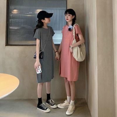 【单件两件】韩版ins立体卡通头像短袖t恤女减龄宽松休闲t恤裙子