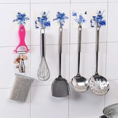 盘粘贴壁挂钩子强力粘钩无痕挂钩免钉门后承重粘胶厨房浴室创意吸