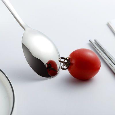 不锈钢餐具套装儿童学生上班族便携勺子筷子礼盒精品袋套装二件套