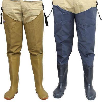 半身过膝男女下水裤 加厚超高筒雨靴防水插秧鞋捕鱼钓鱼鞋抓鱼裤