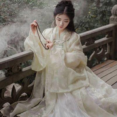 新款学生装古装汉服女大袖衫荣姬锦鲤日常改良清晰淡雅齐胸襦裙唐