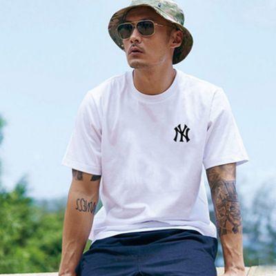 夏季新款潮牌余文乐同款印花潮流字母半袖男装休闲纯棉短袖T恤男