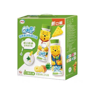 【5月新货】 伊利QQ星营养果汁酸奶饮品凤梨芝士味200ml*16/箱