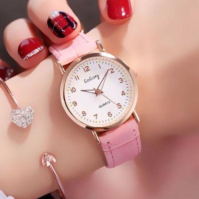 (送电池+手镯)手表女学生韩版简约女生手表电子手表气质手表女