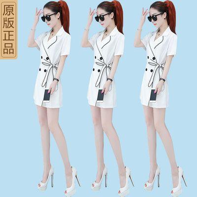 2020夏季新款时尚韩版短袖显瘦小香风小西装外套短裤套装女两件套