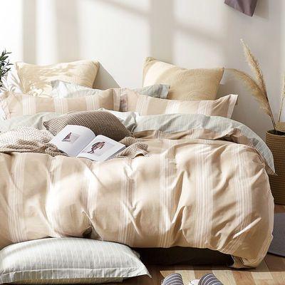 爆款小绵羊100%纯棉多色简约四件套床单被罩儿童被套全棉套件床上