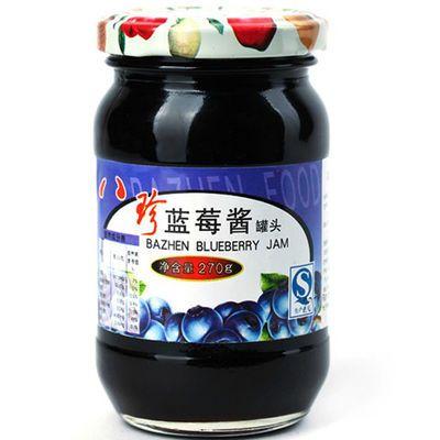 【特价】270g一瓶八珍蓝莓果酱水果酱面包果酱蛋糕配料调味酱烘培