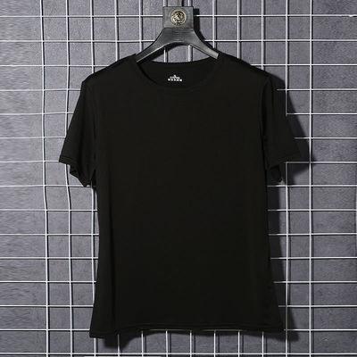 2020新款男士速干T恤夏季百搭时尚休闲男士超爽冰丝短袖T恤男