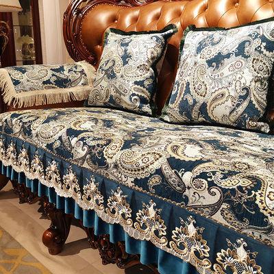 欧式沙发垫套罩雪尼尔皮沙发垫子防滑布艺坐垫四季通用高档12组合