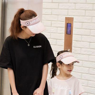 儿童帽子夏亲子休闲女孩凉帽防晒百搭遮阳帽男童空顶帽太阳鸭舌帽