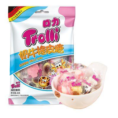 促销德国Trolli口力奶牛橡皮糖108g*2袋糖果橡皮qq糖果汁软糖结婚