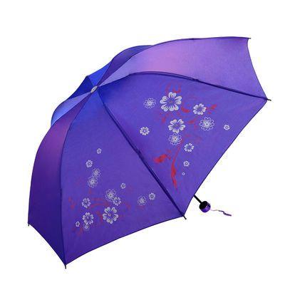 变色闪银炫彩布料反光雨伞晴雨天特色创意面料新款遮阳夏天户外伞