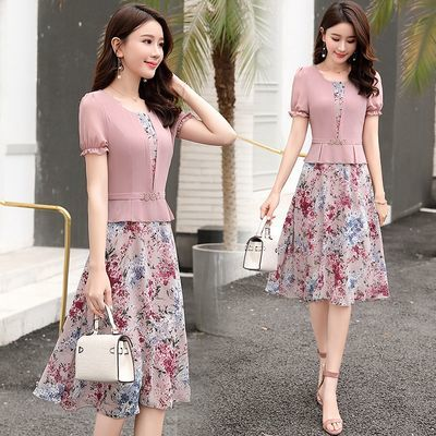 碎花雪纺连衣裙流行女装2019夏季新款气质韩版显瘦很仙的夏款裙子
