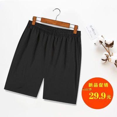 夏季运动短裤男大码宽松五分裤休闲裤冰丝速干沙滩裤夏天大裤衩潮