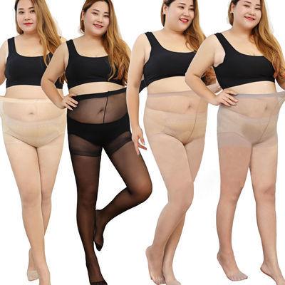 5双夏季超薄款防勾丝加肥加大丝袜女大码胖mm不掉裆打底裤200斤