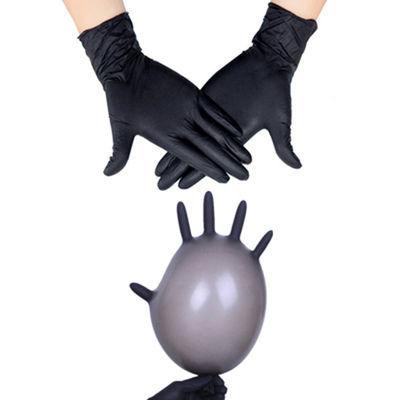 作家务用防水手套劳保男女黑色防滑一次性橡胶手套防油洗碗工业工