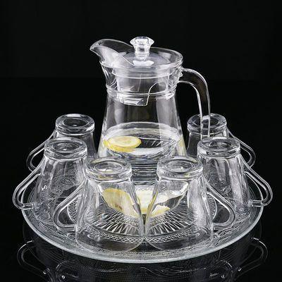 冷水壶凉水壶玻璃耐高温家用套装扎壶凉白大容量凉杯凉水