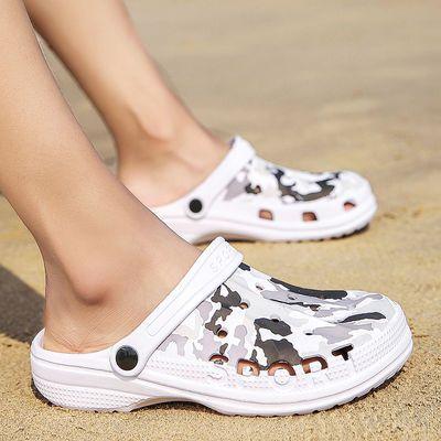 男士凉鞋潮流洞洞鞋沙滩凉拖鞋特大码夏季休闲拖鞋男外穿防滑两用