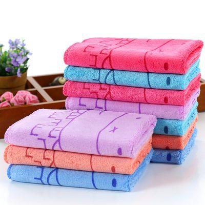【10条装】毛巾加厚超柔洗脸清洁家用成人儿童洗澡柔软吸水面巾