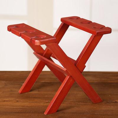 爆款红酒架摆件北欧式创意现代简约实木架子家用客厅吊挂杯架时尚