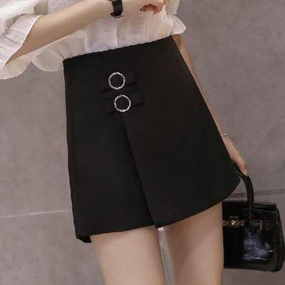 正品短裤女2020新款韩版黑色高腰春夏季阔腿裤裙宽松显瘦外穿靴裙