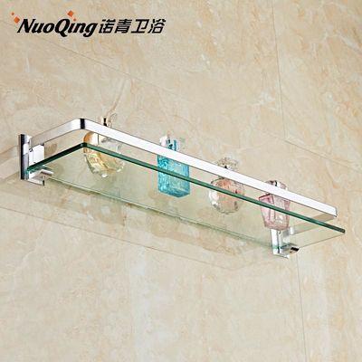 热卖太空铝浴室置物架 卫生间壁挂单层毛巾架洗手间卫浴架玻璃置