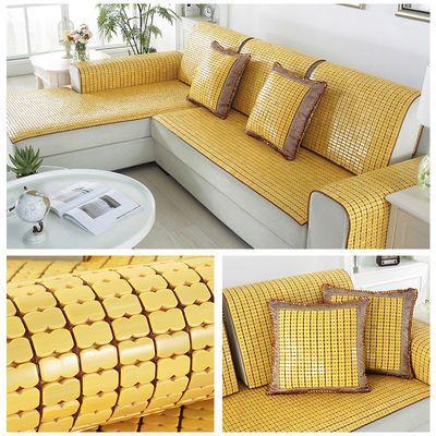 夏季凉席沙发垫欧式客厅简约沙发凉坐垫麻将竹垫子凉垫飘窗垫定做