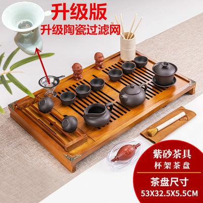 茶具套装特价家用实木茶盘功夫茶具套装茶道配件办公喝茶泡茶壶杯