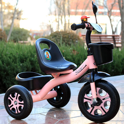 热销新品质保儿童三轮车2-5岁宝宝脚踏车1-3岁手推车男女孩童车自