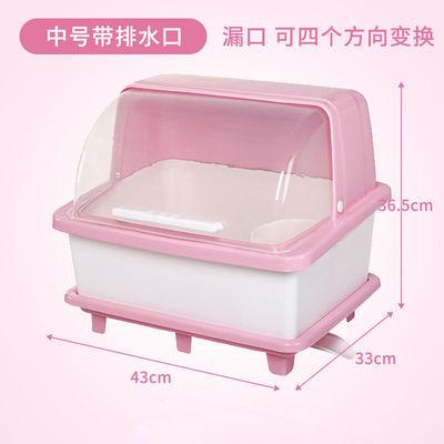 热销厨房放碗筷收纳盒家用碗碟沥水碗架带盖装碗柜盘子餐具储物箱