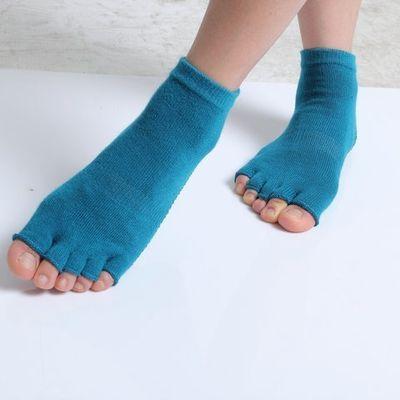 漏指瑜伽袜防滑运动健身硅胶透气专业瑜伽蹦床袜用品五指漏指袜子