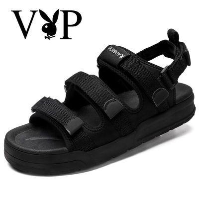 [花花公子VIP]凉鞋男沙滩凉鞋韩版学生鞋越南凉鞋沙滩防滑透气凉