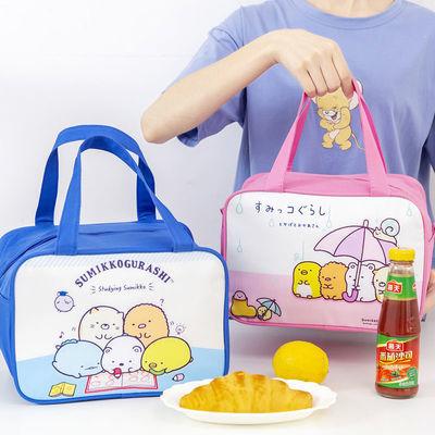 小学生保温袋子可爱饭盒袋大号大容量卡通手提便当包儿童餐盒饭袋