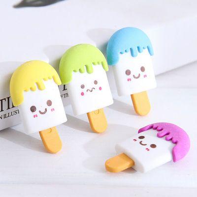 创意卡通可拼装笑脸可爱木棍冰棒橡皮擦 造型雪糕橡皮擦动物橡皮