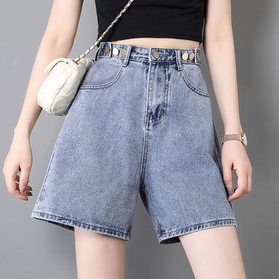 2020牛仔短裤女夏季新款韩版高腰学生百搭宽松翻边百搭阔腿显瘦潮
