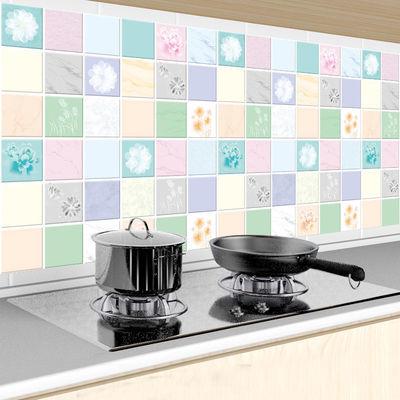 热卖厨房贴纸防油耐高温橱柜防水防潮墙纸自粘灶台瓷砖贴桌面壁纸