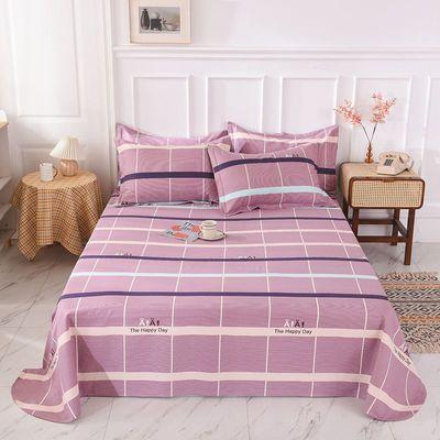 纯棉细纱老粗布床单单件棉布单双人床单宿舍单人床单四季可用床品