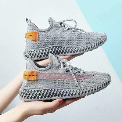 休闲透气椰子鞋女2020夏季新款韩版百搭学生袜子跑步运动鞋潮