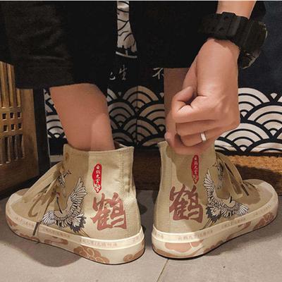 国风云鹤九霄帆布鞋男百搭经典款2020年夏季新款学生古装汉服鞋子