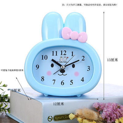 可爱学生用小闹钟儿童专用卧室床头闹钟个性懒人创意简约卡通闹钟