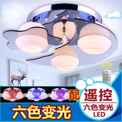 主卧室灯温馨led吸顶灯客厅水晶灯儿童婚房灯卧室吸顶灯圆形灯具