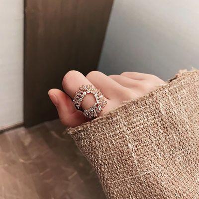 时尚个性ins潮食指指环冷淡风日系轻奢网红女戒复古欧美夸张戒指