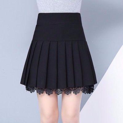 【加长版】精品半身裙百褶裙短裙高腰蕾丝百褶裙蓬蓬打底a字裙子