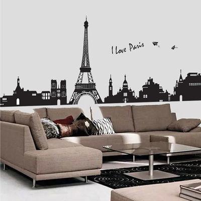 欧式建筑墙贴画客厅卧室玄关走廊沙发背景墙壁装饰品墙面自粘贴纸