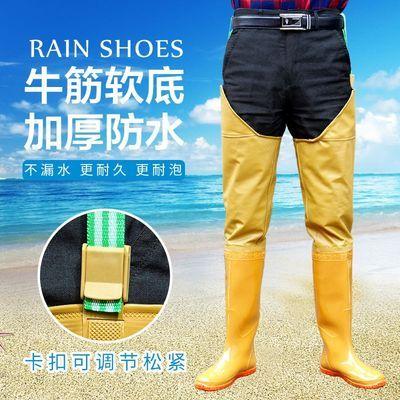 男女过膝超高筒下水裤雨靴雨鞋防水靴插秧鞋钓渔捕鱼涉水鞋工作靴
