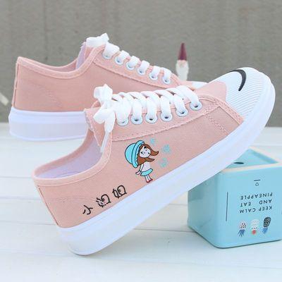春季10女孩13中大童帆布鞋12儿童小白鞋小学生运动鞋女童板鞋15岁